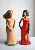 Sculpture femininity and sexuality. Two women, and two sides of perception and flow, which is more important Royalty Free Stock Image