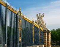 Sculpture fence Royal Palace in Versailles. Royalty Free Stock Images