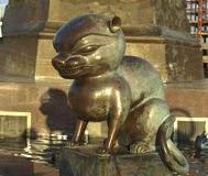Sculpture of ferret. Stock Photography