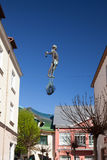 Sculpture of the fisherman on Monte Cassino Street Royalty Free Stock Images