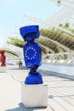 Sculpture flag of the European Union Royalty Free Stock Photos