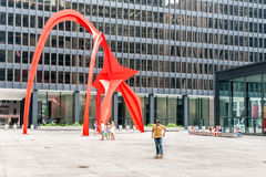 Sculpture Flamingo in Chicago, USA Stock Images