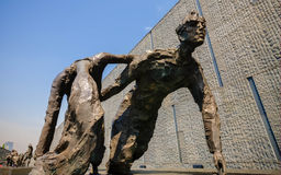 Sculpture, fleeing couple Royalty Free Stock Image