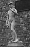 A sculpture in florence. In black and white Royalty Free Stock Images