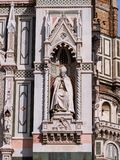 Sculpture of Florentine archbishop St. Antoninus. Sculpture of archbishop St. Antoninus at one of the portals of the Duomo in Florence Italy Royalty Free Stock Images