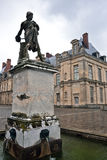 Sculpture at Fontainebleau palace, Ile-de-France Stock Photography