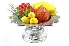 Sculpture food in  tray for sacrifice Royalty Free Stock Photography