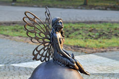 Sculpture Forest fairy. Kaliningrad, Russia Royalty Free Stock Photography