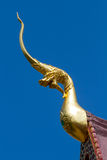 Sculpture formée par Naga du nord traditionnel en style de la Thaïlande Images libres de droits
