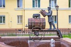 The sculpture fountain Kronstadt water carrier,  Kronstadt. Russia Stock Images