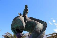 Sculpture of fountain in Maspalomas on the Spanis island Cran Canaria Stock Image