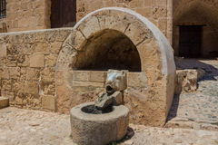 Sculpture fountain in Nicosia Royalty Free Stock Images