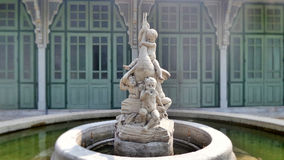 Sculpture fountain in the palace Royalty Free Stock Photography