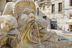 Sculpture on a fountain in Rome, Italy Royalty Free Stock Photos