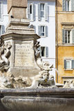 Sculpture on a fountain in Rome, Italy Royalty Free Stock Photography