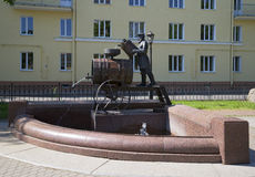 The sculpture-fountain water Carrier. Kronstadt Royalty Free Stock Photography