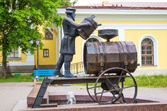 The sculpture fountain Kronstadt water carrier. Kronstadt, Russia Royalty Free Stock Photos
