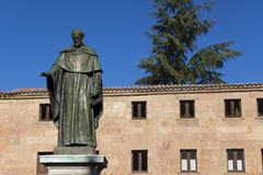 Sculpture of Fray Luis de Leon, Salamanca Stock Photography