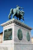 Sculpture of Frederik V on Horseback in Amalienborg Square in Co. Penhagen, Denmark Stock Images