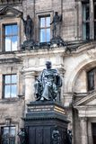 Sculpture of Friedrich August in Zwinger Palace. Dresden. Germany. Historical Monument King. Sculpture of Friedrich August in Zwinger Palace in Dresden. Germany Royalty Free Stock Photography
