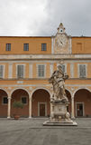 Sculpture in front of Palazzo Arcivescovile, Pisa Stock Photography