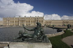 Sculpture in front of Versailles Palace Royalty Free Stock Photography