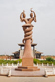 The sculpture of Fu-his and Nu Wa,Xinjiang,China Royalty Free Stock Photo
