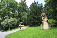 Sculpture in the garden of castle Konopiste Stock Photography