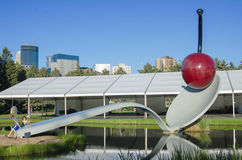 The Spoonbridge and Cherry at the Minneapolis Sculpture Garden stock image