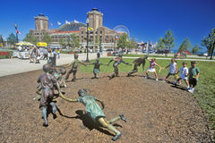 Sculpture Garden at Navy Pier, Chicago, Illinois Stock Photo