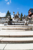 Sculpture in the garden of Peles Castle, Romania Stock Image
