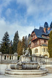 Sculpture in the garden of Peles castle, Sinaia, Romania Stock Photos