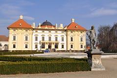 Sculpture and garden of Slavkov castle Stock Photos