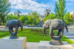 The sculpture garden in Yerevan Stock Photography