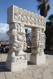 The sculpture The Gates of faith in Jaffa. Tel Aviv. Israel Royalty Free Stock Photography