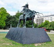 Sculpture Of Genghis Khan, Marble Arch, London. Royalty Free Stock Photography