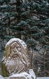 Sculpture of the Ghost of Karkonosze. Statue of the Liczyrzepa believed to be the Ghost of Karkonosze, former  landlord guarding treasures Poland Stock Photos