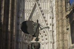 Sculpture of the Giraldillo, Seville. Copy of the sculpture of the Giraldillo is located in the Cathedral of Seville royalty free stock photos