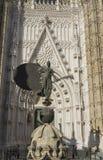 Sculpture of the Giraldillo, Seville. Copy of the sculpture of the Giraldillo is located in the Cathedral of Seville stock photography