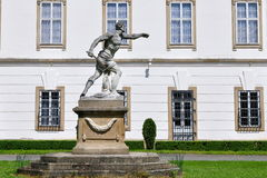 Sculpture gladiator in front of Vizovice castle Cz Royalty Free Stock Photo