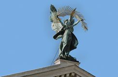 Sculpture of Glory of Lviv Theater of Opera and Ballet in Lviv, Ukraine Stock Photo