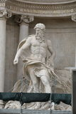 Sculpture the god Oceanus in Trevi Fountain. Rome, Italy Royalty Free Stock Image