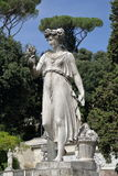 Sculpture Goddess of Abundance in Piazza del Popolo. Rome, Italy Stock Images