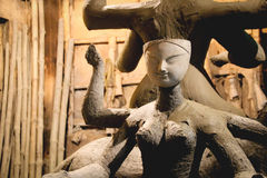 Sculpture of goddess Durga at Kumartuli, Kolkata, India Stock Photography