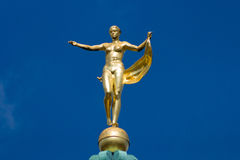 Sculpture of the goddess Fortuna. On the dome Charlottenburg Palace. Berlin Stock Photo