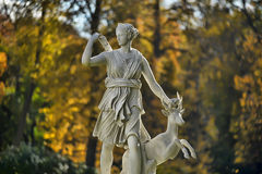 Sculpture of the goddess of hunting Royalty Free Stock Photography