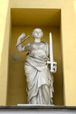 Sculpture of the goddess of justice Themis royalty free stock photo
