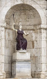 Sculpture of the goddess Minerva - Royalty Free Stock Photos