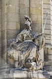 Sculpture of the goddess Minerva. The patron saint. Located on the right side of the entrance to the House of Military Disabled, in Paris Stock Photography