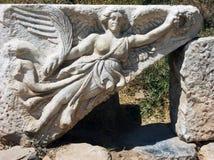 Sculpture of the goddess Nike in ancient Ephesus, Turkey Stock Photos
